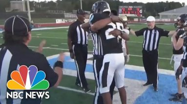 Soldier Surprise: Father Dresses As Ref To Surprise Son At Football Game
